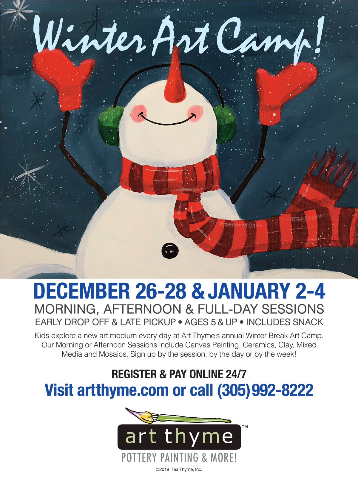 Winter Break Art Camp